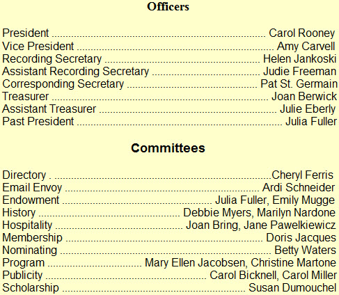 Officers and Committees